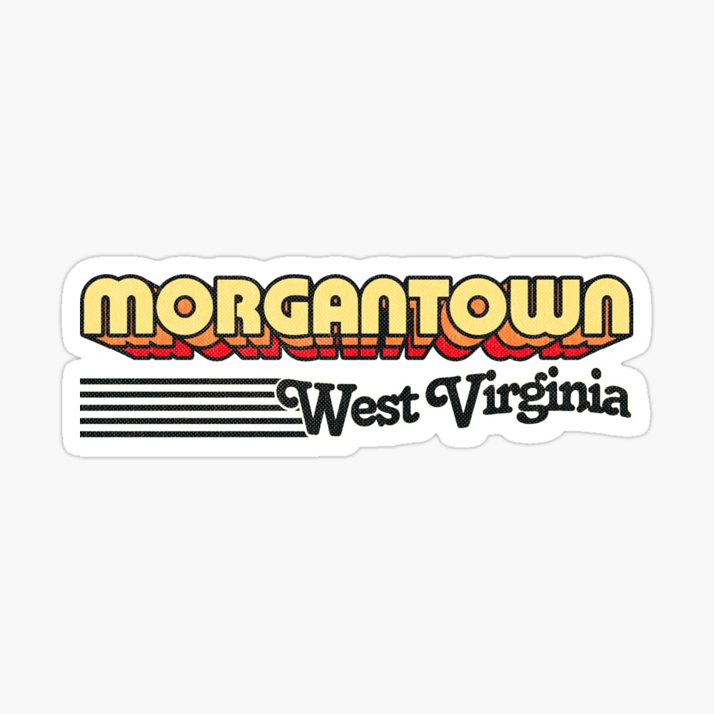 Morgantown, West Virginia | Retro Stripes Sticker