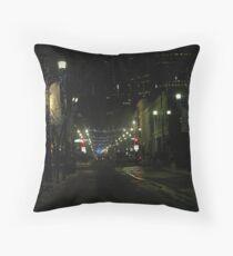 New Years Eve Streetscene Throw Pillow