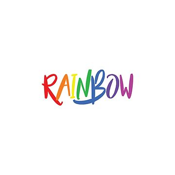 RAINBOW Text Design For Girls Boys Kids  by saadkh