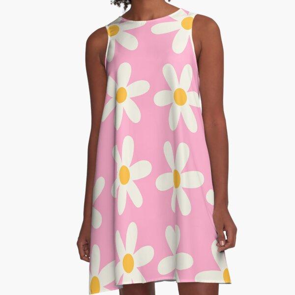 Pink Daisy Design A-Line Dress