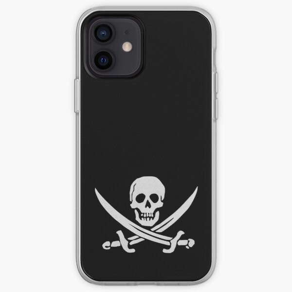 Jolly Roger white iPhone Soft Case