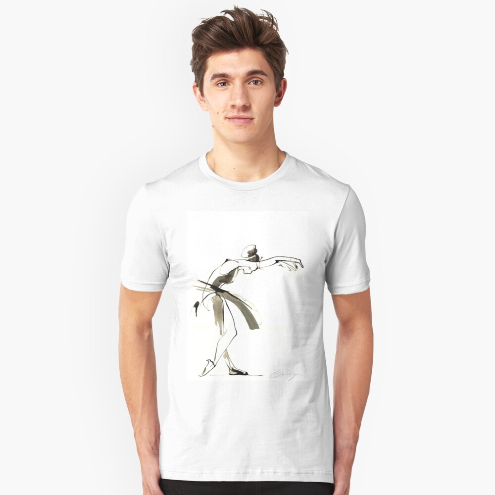 Dance Drawing Slim Fit T-Shirt