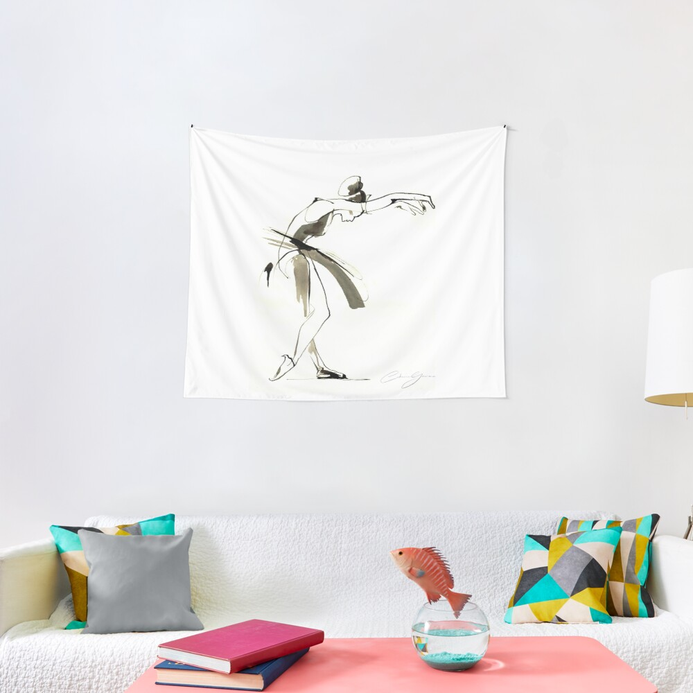 Dance Drawing Tapestry