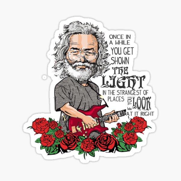 Jerry Garcia Scarlet Begonias  Sticker
