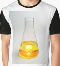 Science Beaker Skull Graphic T-Shirt