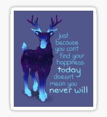 """Just Because You Can't Find Your Happiness"" Galaxy Reindeer Sticker"