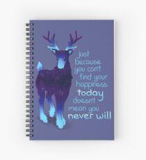 """Cuaderno de espiral """"Solo porque no puedes encontrar tu felicidad"""" Galaxy Reindeer"""