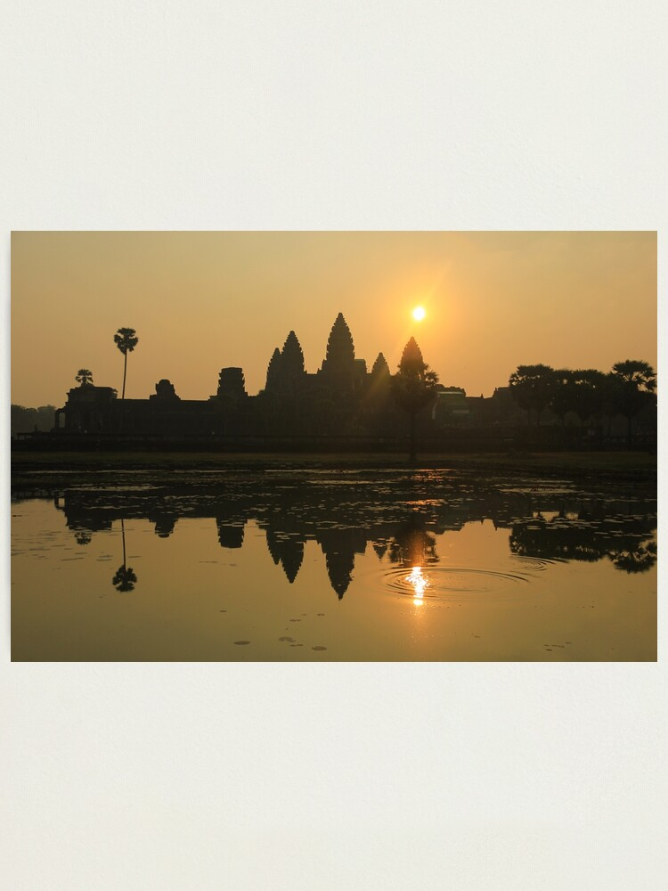 Alternate view of Angkor Wat Temple sunrise Photographic Print