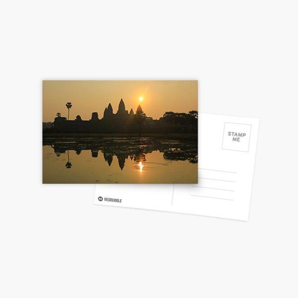 Angkor Wat Temple sunrise Postcard