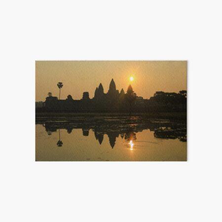 Angkor Wat Temple sunrise Art Board Print
