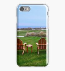 Chairs at the Eighteenth Green iPhone Case/Skin