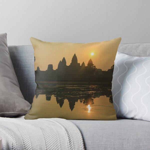Angkor Wat Temple sunrise Throw Pillow