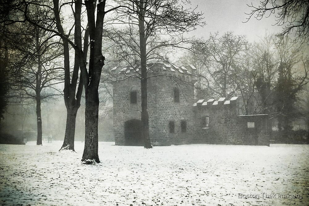 Fortress in the Fog by Boston Thek Imagery
