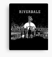 Riverdale Black And White Pop's Chock'lit Shoppe Canvas Print