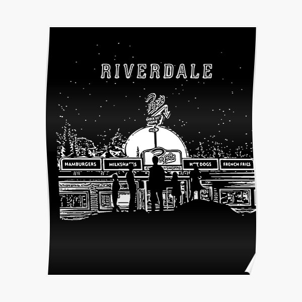 Riverdale Black And White Pop's Chock'lit Shoppe Poster