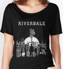 Riverdale Black And White Pop's Chock'lit Shoppe Women's Relaxed Fit T-Shirt
