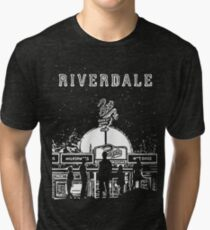 Riverdale Black And White Pop's Chock'lit Shoppe Tri-blend T-Shirt