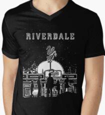 Riverdale Black And White Pop's Chock'lit Shoppe Men's V-Neck T-Shirt