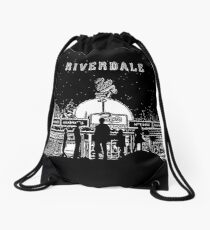 Riverdale Black And White Pop's Chock'lit Shoppe Drawstring Bag