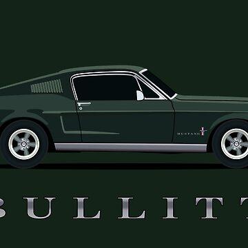 Mustang Bullitt by AutomotiveArt