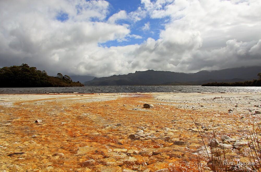 Ted's Beach - Lake Pedder, South West Tasmania  by Ruth Durose