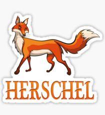 Herschel Fox Sticker