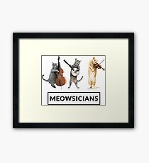 Meowsicians - Musician Cat Band Framed Print