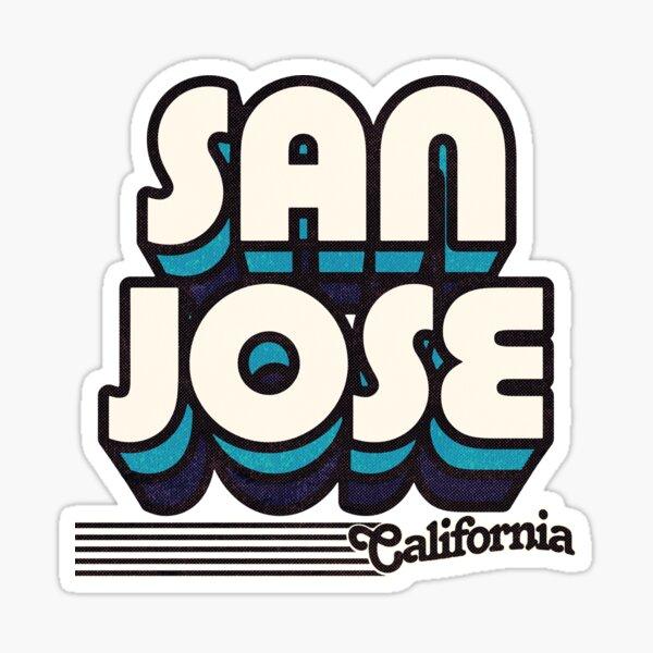 San Jose, California | Retro Stripes Sticker