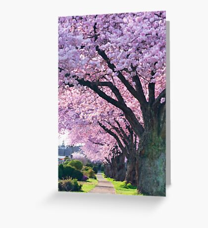 Blossoming Street Greeting Card