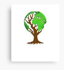 Earth Tree T-Shirt Canvas Print