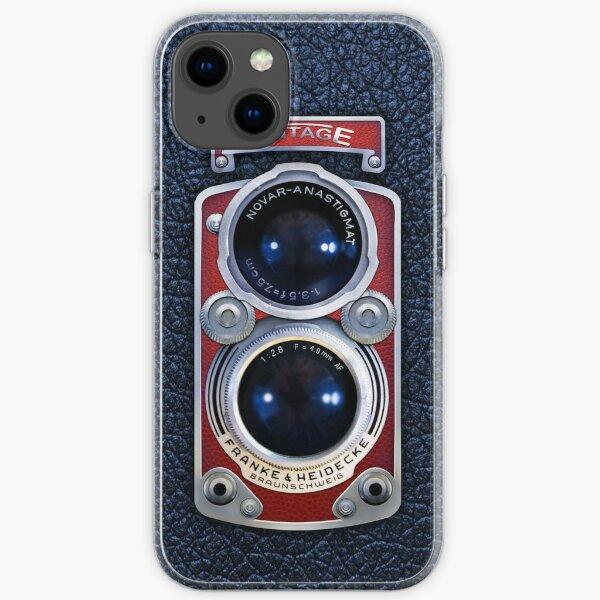 Vintage ROT Doppelobjektivkamera iPhone Flexible Hülle