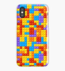 Bight and Colorful Nostalgic Building Blocks  iPhone Case
