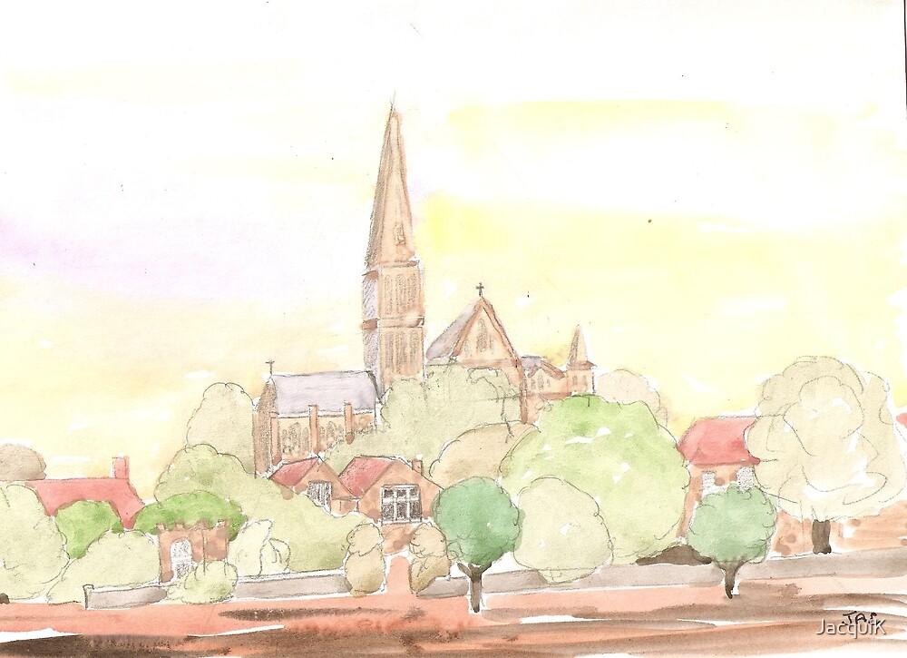 Church scene by JacquiK