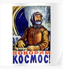 Erste Frau im Weltraum - Sowjetische Weltraumprogramm Poster Kunst Poster