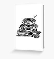 Vintage baking set Greeting Card