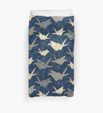Sadako's Good Luck Cranes Duvet Cover