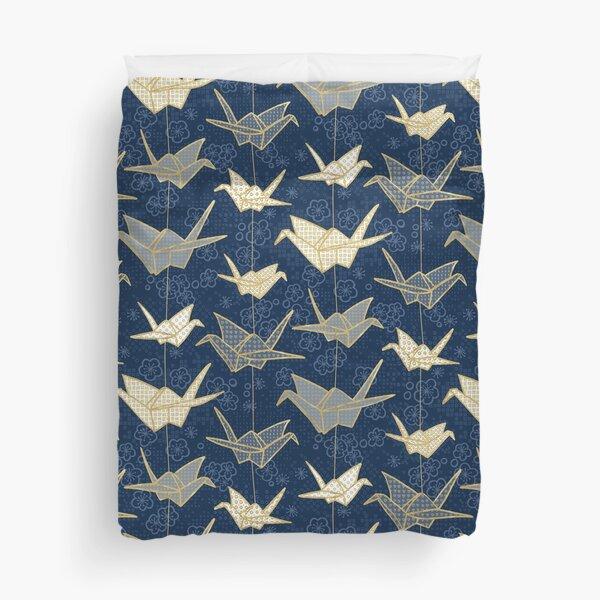 Sadako's Good Luck Cranes Duvet Cover