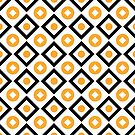 Sun yellow pattern of rhombuses and circles by Steffen Remter