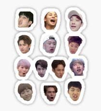 Seventeen Derp Faces Set Sticker