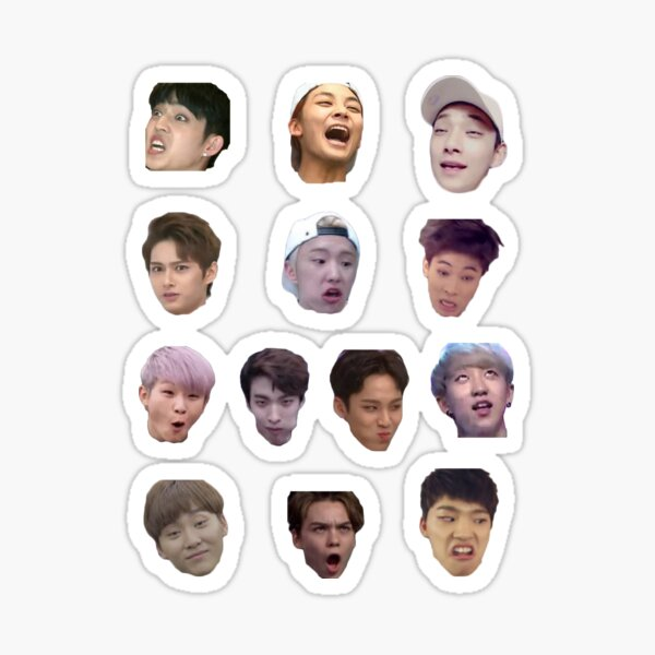 Seventeen Derp Faces Set Sticker