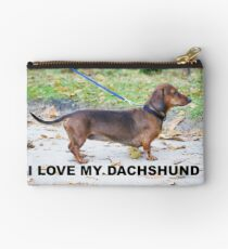 dachshund wild boar love with picture Studio Pouch