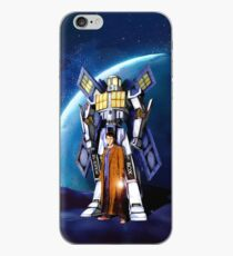 10th Doctor with Robot Phone booth iPhone Case