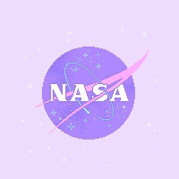 Pastel NASA Meatball (pixel art) by sp8cebit
