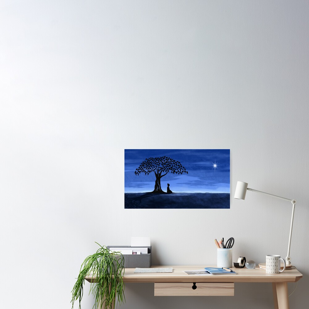 Buddah tree Poster