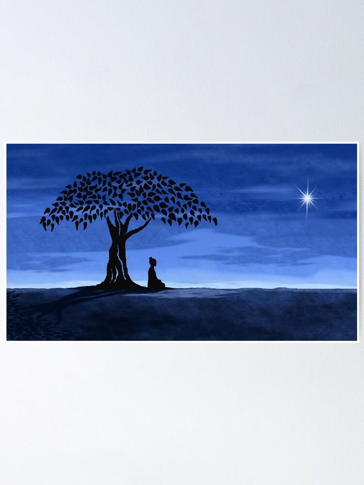Alternate view of Buddah tree Poster