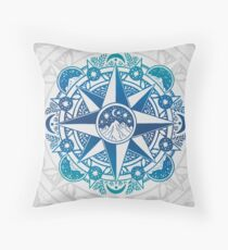 Journey to Moon Mountain | Turquoise Navy Ombré Floor Pillow