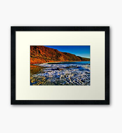 """Cathedral Rock Beach"" Framed Print"