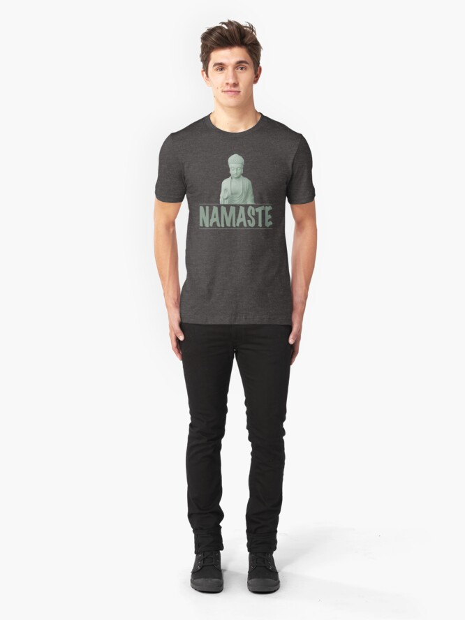 Alternate view of Namaste and Buddha  Slim Fit T-Shirt