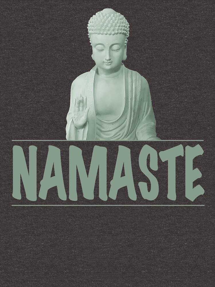 Namaste and Buddha  by Rightbrainwoman