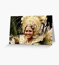 Sinulog 2009 Festival Queen Greeting Card